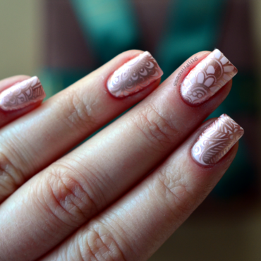 Rose Gold #2 nail art by 9th Princess