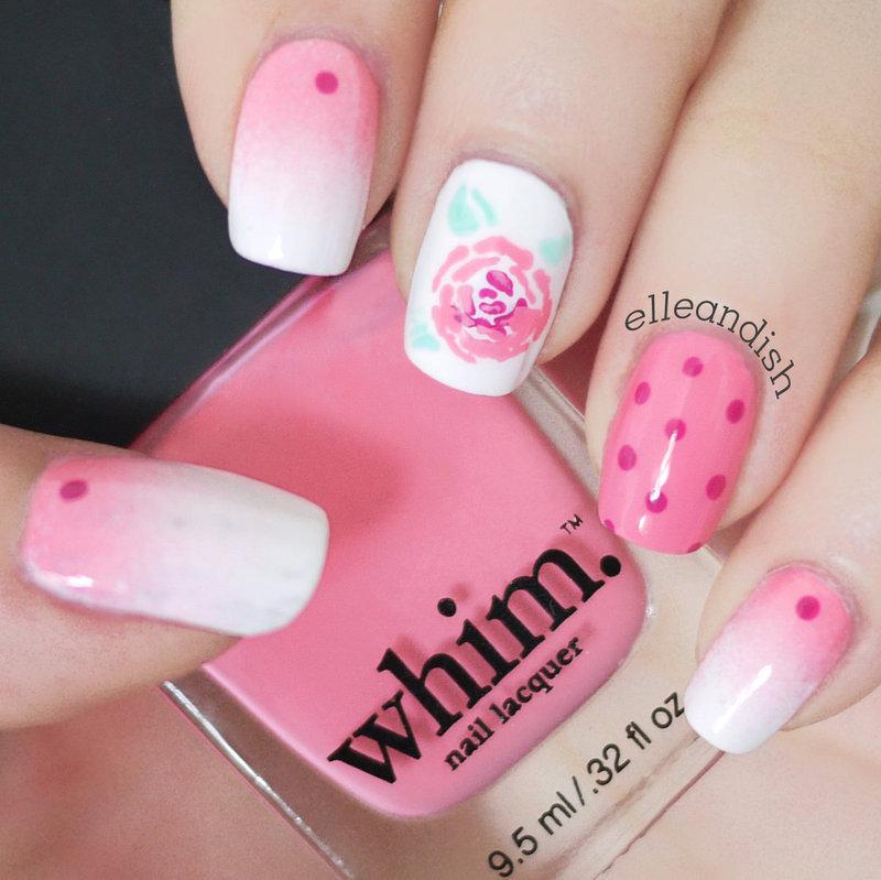 Rose Nails nail art by elleandish