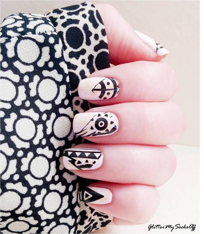 Tattoos, tattoos everywhere  nail art by GlitterMySocksOff