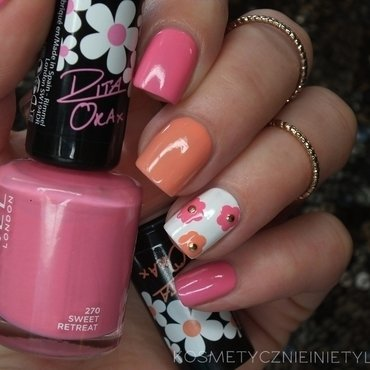 Spring flower by Rimmel nail art by Karola