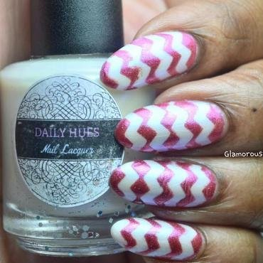 Simple Chevron Design nail art by glamorousnails23
