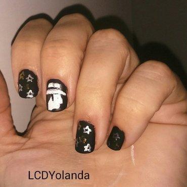 el barrio  nail art by Yolanda flores