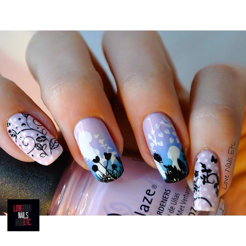 Romeo + Juliet <3 nail art by Love Nails Etc