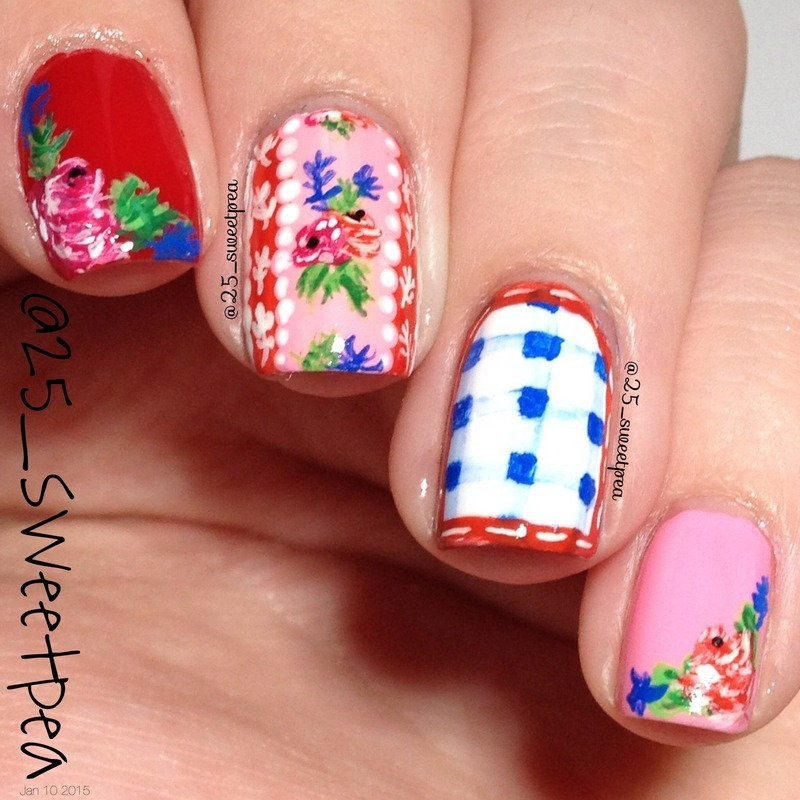 Floral Mugs nail art by 25_sweetpea
