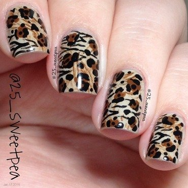 Animal Print! nail art by 25_sweetpea