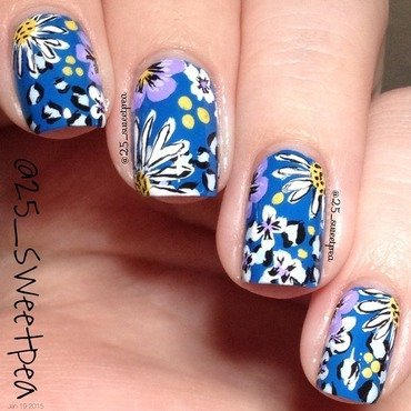 Fun Floral And Cheetah! nail art by 25_sweetpea