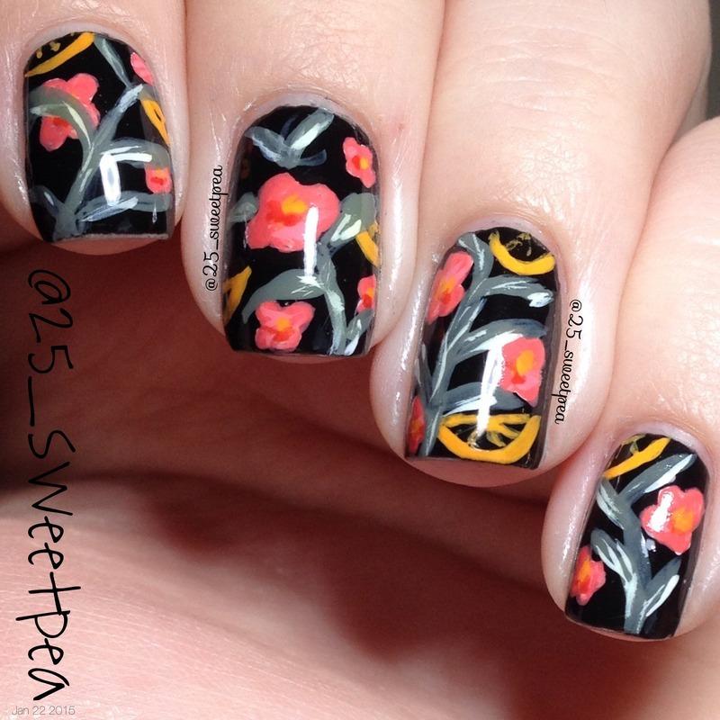 Teavana Tea nail art by 25_sweetpea