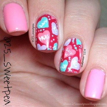 Valentines Day nail art by 25_sweetpea