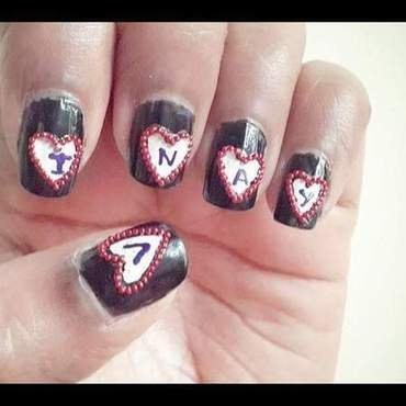 Expressing love to him nail art by Vibvin 345