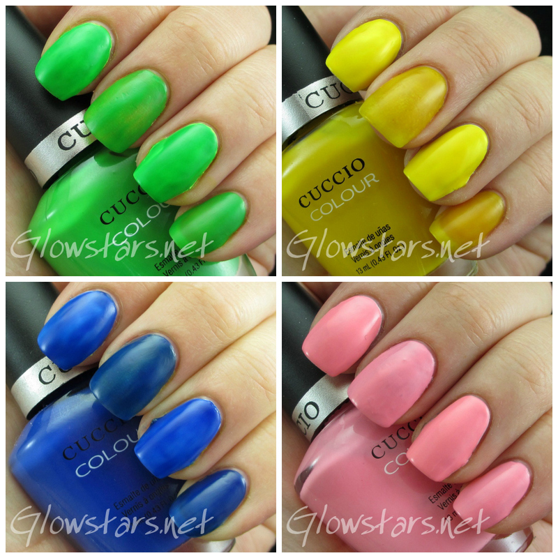 Cuccio Colour Neons collection (partial) Swatch by Vic 'Glowstars' Pires