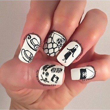 Cocco Chanel  nail art by Workoutqueen123