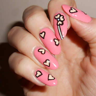 Heart Petals nail art by MyMintNails