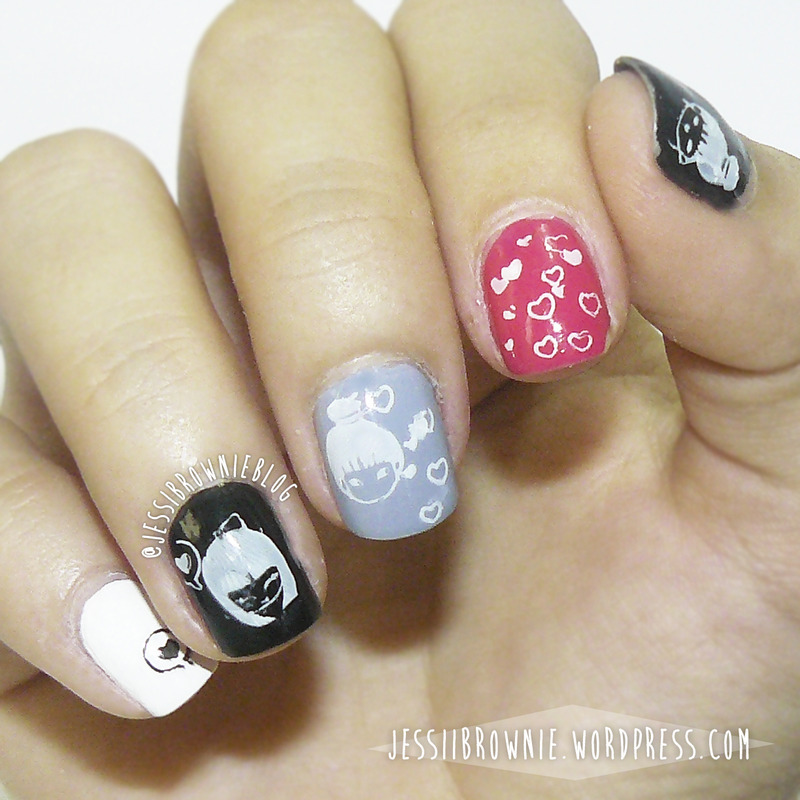 Nail Art with MoYou Suki Collection Stamping Plate nail art by Jessi Brownie (Jessi)