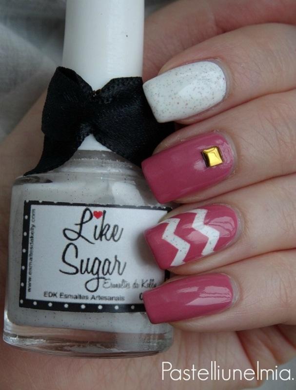Rose and Sugar. nail art by Lumi