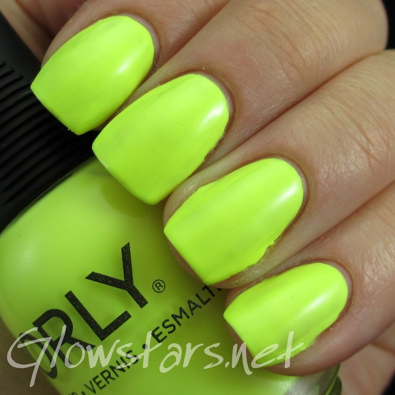Orly Key Lime Twist Swatch by Vic 'Glowstars' Pires