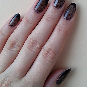 All In Black nail art by Mgielka M