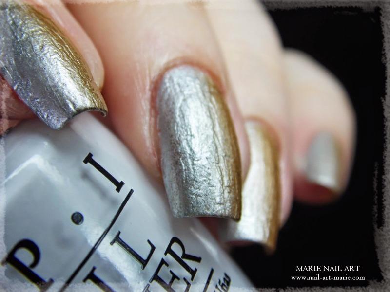 Chrome Shade Crack Effect nail art by Marie Nail Art - Nailpolis ...
