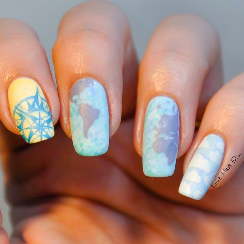 Around the world in eighty days nail art by Love Nails Etc ...