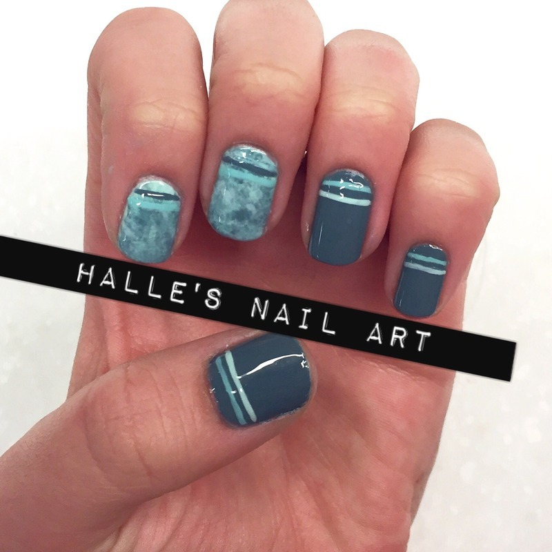 Keepin it Teal nail art by Halle Butler