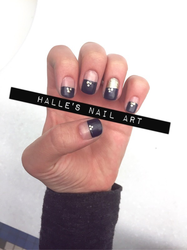[Negative] Space Available  nail art by Halle Butler