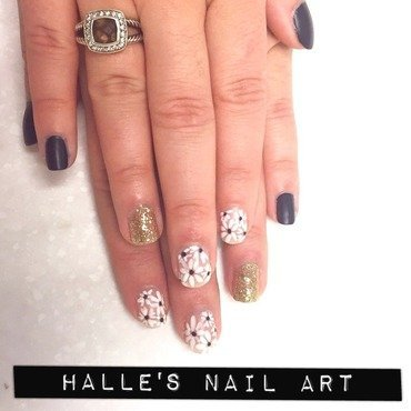 Floored by Florals nail art by Halle Butler