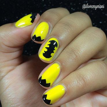 Batman inspired nail art nail art by Gabrielle