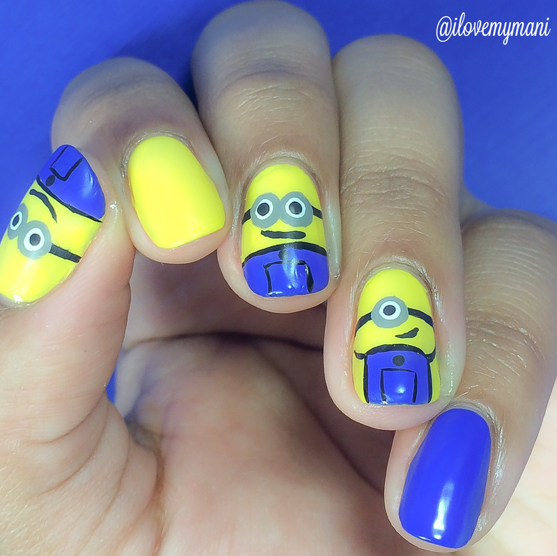 Minion Nail art nail art by Gabrielle