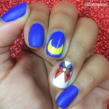 Sailor Moon Nail Art nail art by Gabrielle