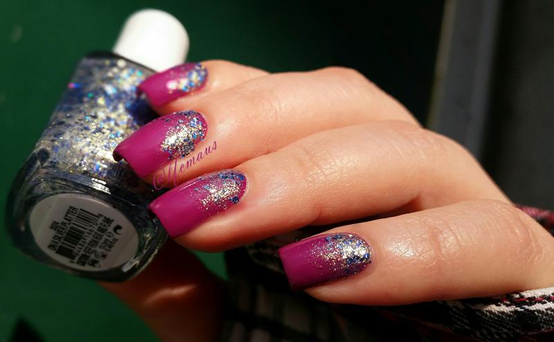 Glitter Gradient nail art by Arlett