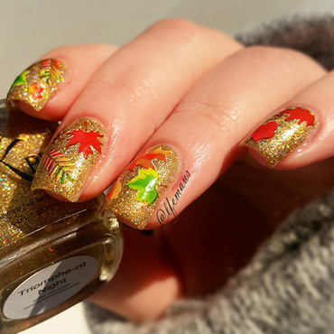 Autumn Leaves nail art by Arlett