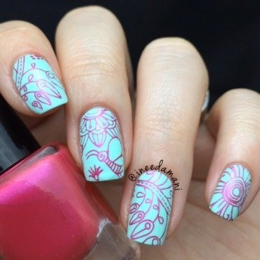 Flower Fresh nail art by Carmen Ineedamani