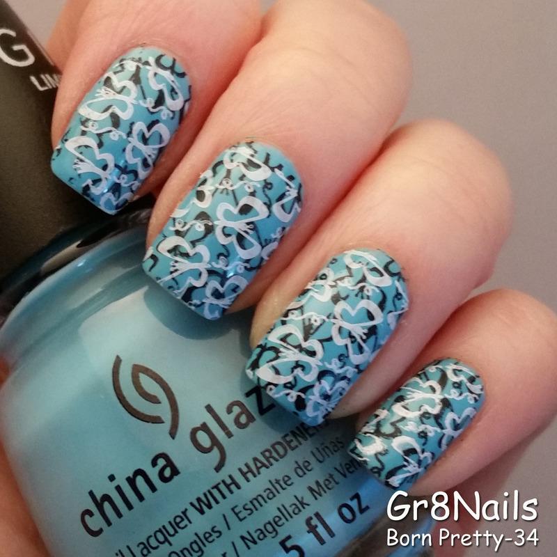 Butterflies nail art by Gr8Nails