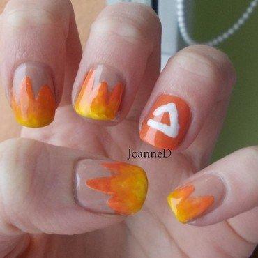 Fire nail art by JoanneD