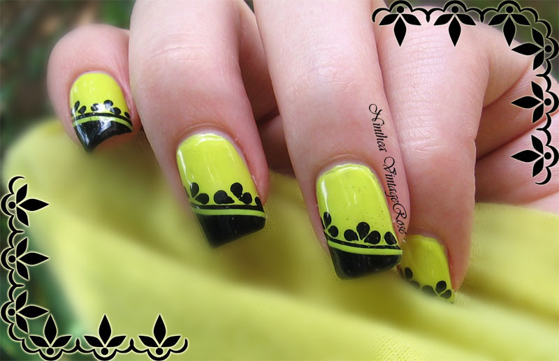 Crazy yellow nail art by Ninthea