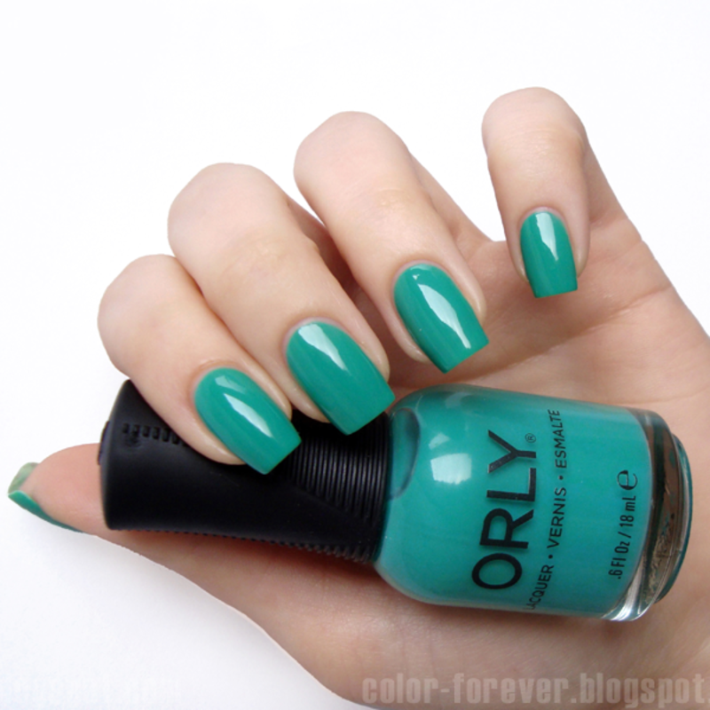 Orly Green With Envy Swatch by ania
