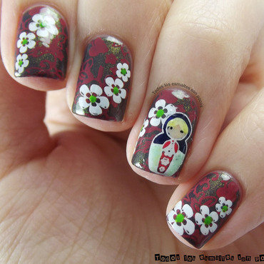 Manicura matrioska todos los esmaltes son pocos choo choo choose you china glaze 03 thumb370f
