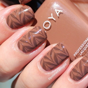 Chocolate-y stamping nail art by Polished Polyglot
