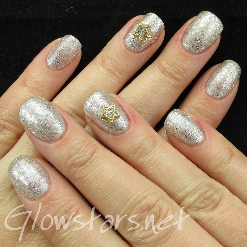Gelish Night Shimmer with NailNation 3000 Silver Hologasm nail art by Vic 'Glowstars' Pires