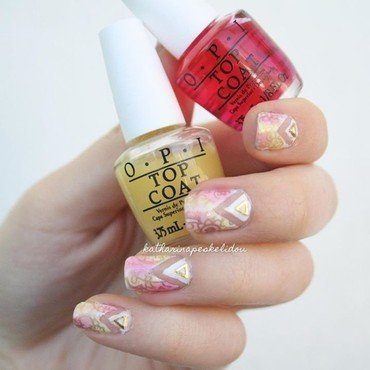Colourful Cut Out nail art by katharinapeskelidou