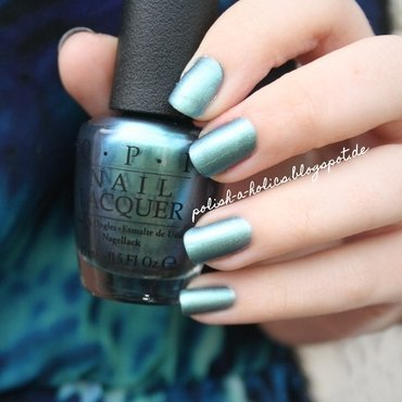 Kiko Matte Topcoat and OPI This Color's Making Waves Swatch by katharinapeskelidou