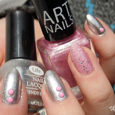 Sensique Art Nails 183 Pink Frost and Life 14 Swatch by SheLazy