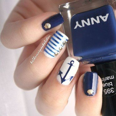 Nautical Nails nail art by katharinapeskelidou
