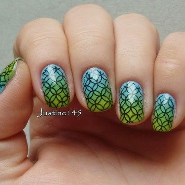 spring stamping nail art by Justine145