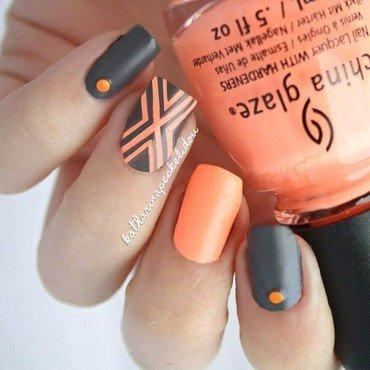 Storm Peach nail art by katharinapeskelidou