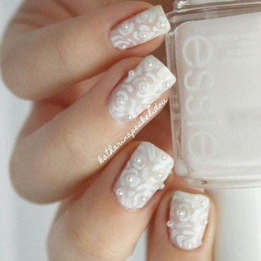 Wedding Roses nail art by katharinapeskelidou