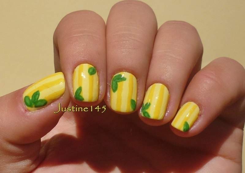 lemons nail art by Justine145
