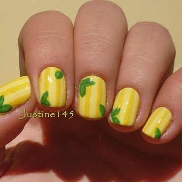 lemons nail art by Justine145