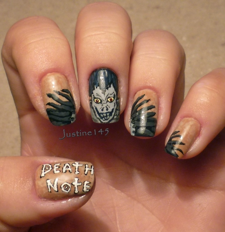 death note - Ryuk nail art by Justine145 - Anime Nail Art And Swatches - Nailpolis: Museum Of Nail Art