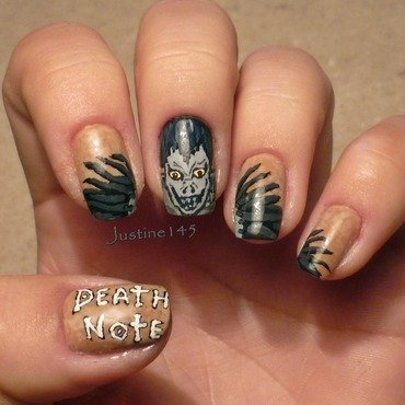 death note - Ryuk nail art by Justine145