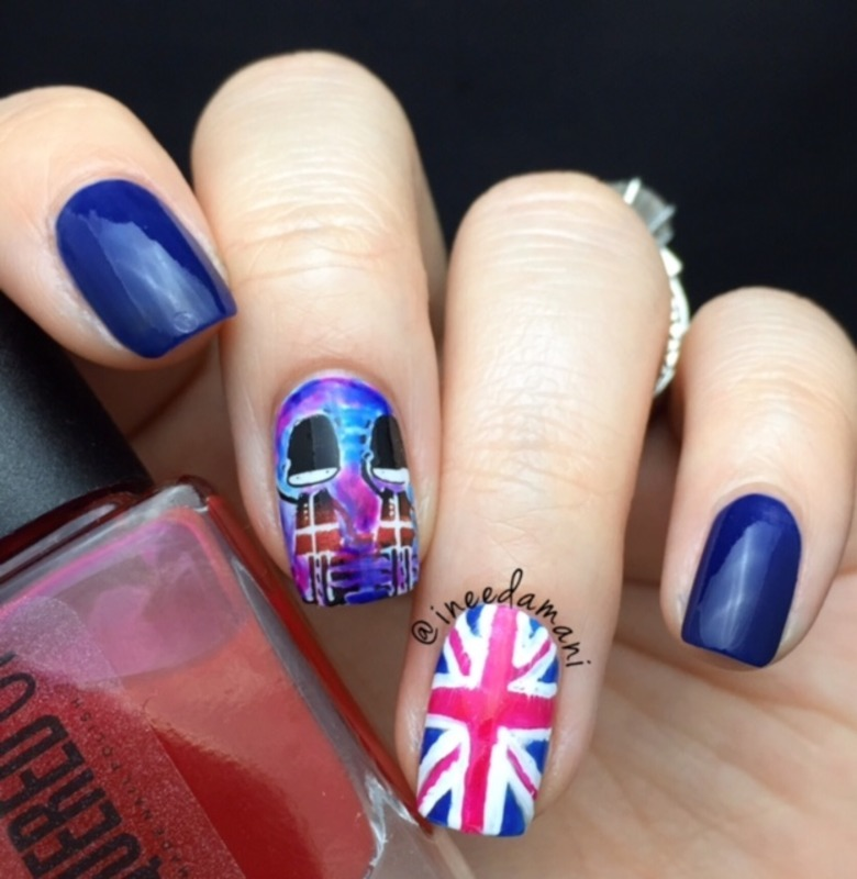 London nail art by Carmen Ineedamani